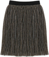 Little Marc Jacobs Viscose Lined Lurex Pleated Skirt