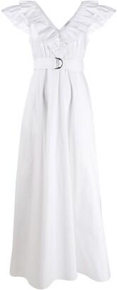 P.A.R.O.S.H. V-neck poplin maxi dress
