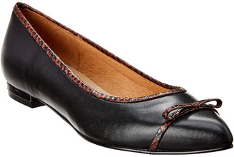 French Sole Victor Leather Flat