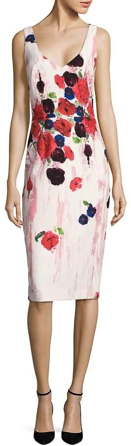David Meister Women's Floral-Print Sheath Dress