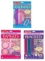 Melissa & Doug Design-Your-Own Jewelry-Making Kits - Bangles, Headbands, and Bracelets