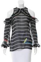 Preen Striped Silk Top