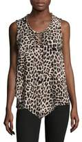 Vince Camuto Sleeveless Leopard Print Lace Top
