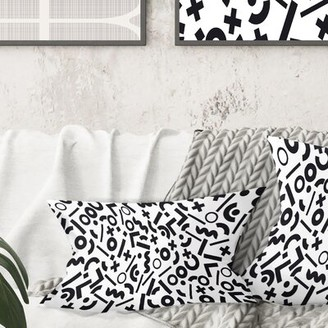 East Urban Home Monochrome Pattern XIII Lumbar Pillow