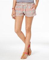 Roxy Juniors' Oceanside Pull-On Printed Shorts