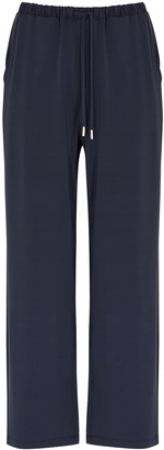 MAX MARA LEISURE Huesca navy jersey trousers
