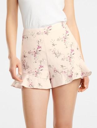 Forever New Mandy Linen-Blend Shorts - SOFT TROPICAL - 16