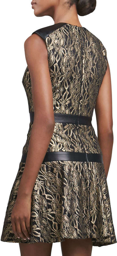 Nicole Miller Lace Fit-and-Flare Cocktail Dress