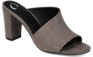 Brinley Co. Womens Open-toe Block Heel Mule