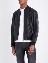 Armani Jeans Stand-collar faux-leather bomber jacket