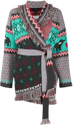 Alanui cashmere knitted cardi-coat