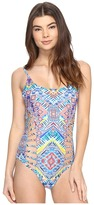Red Carter Beauty & The Beach Side Cut Out One-Piece