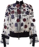 Sacai patch embroidered bomber - women - Cotton/Polyester - 2