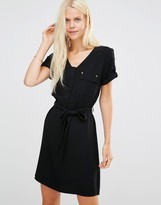 B.young Esme Dress With Pockets And Waist Tie