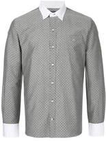 GUILD PRIME polka dot collared shirt