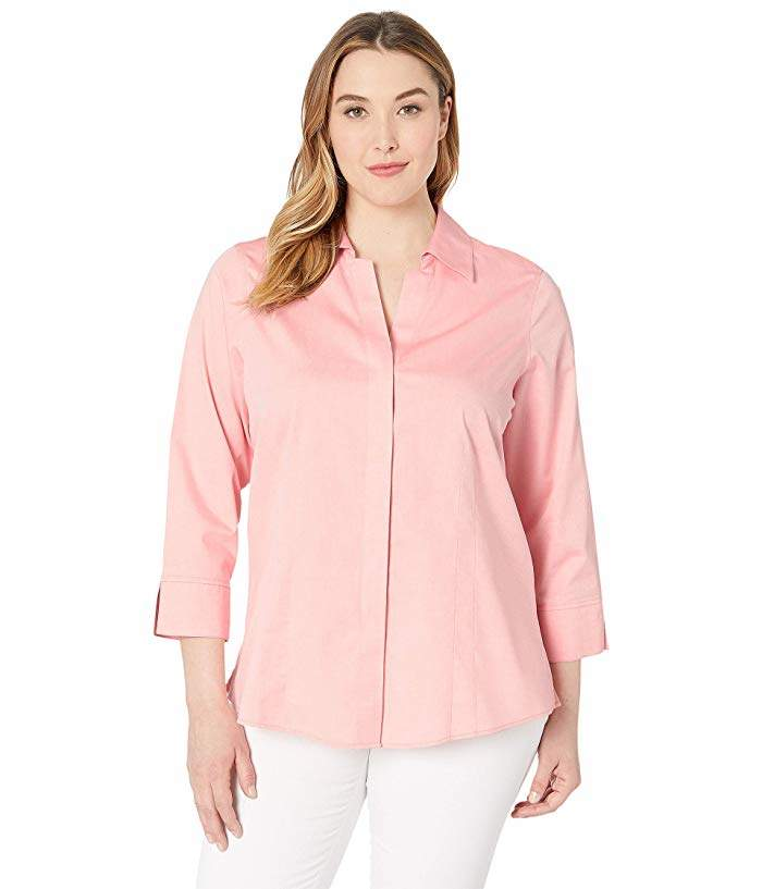 576613ca32a933 Coral Three Quarter Sleeve Tops - ShopStyle