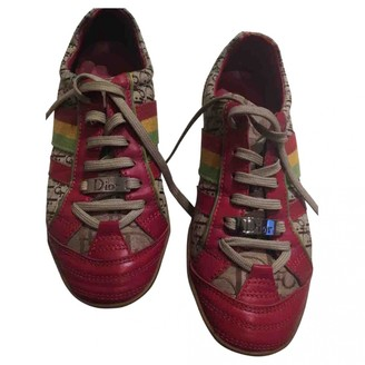 Christian Dior Red Cloth Trainers