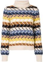 Chloé zig-zag intarsia chunky sweater - women - Cashmere/Merino - XS