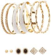 Charlotte Russe Glam Stud & Hoop Earrings - 6 Pack