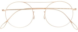 Haffmans & Neumeister Oversized Round Frame Glasses