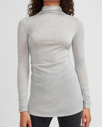 Express Mock Neck Long Sleeve Tunic Tee