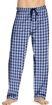 Hanes Men's Logo Woven Plaid Pants Loungewear