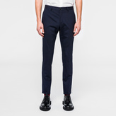 Paul Smith Men's Slim-Fit Navy Puppytooth Stretch-Wool Trousers