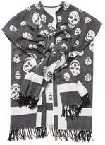 Alexander McQueen Classic Skull Wool Wrap