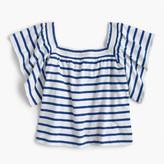 J.Crew Girls' off-the-shoulder striped smocked top