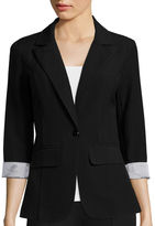BY AND BY by&by 3/4- Sleeve Boyfriend Jacket