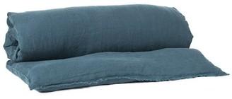 Harmony 85 x 200cm Linen Edredon Viti Quilt Comforter Cover - Larch - Concrete/Clay