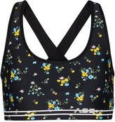 Thumbnail for your product : Adam Selman Sport Cross-Back floral sports bra