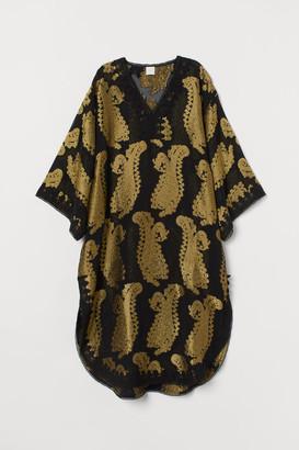 H&M Jacquard-patterned Kaftan - Black