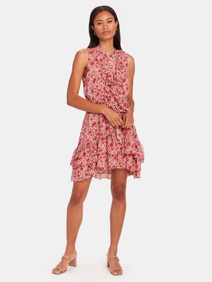 MISA Eba Ruffled Mini Dress
