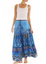 Johanne Beck - Maxi Tiered Skirt Color: Azure Boho