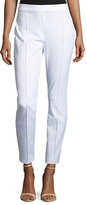 Elie Tahari Gia Straight-Leg Ankle Pants, White