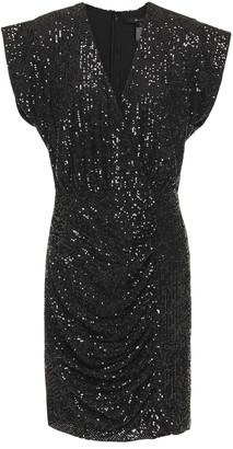 Jay Godfrey Sequined Mesh Mini Dress