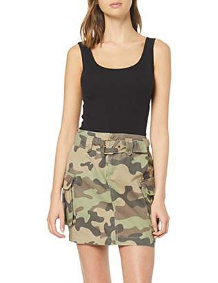 New Look Women's Camo Bellow Pocket Skirt,8 (Manufacturer Size:8)