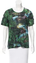 Carven Forest Print Short Sleeve Top