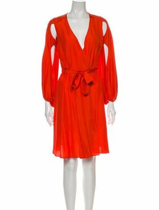 Antonio Berardi Plunge Neckline Mini Dress Orange