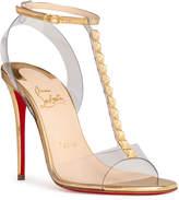 Christian Louboutin Jamais Assez 100 pvc and gold sandals