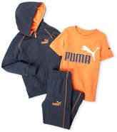 Puma Boys 4-7) 3-Piece Zip-Up Hoodie & Sweatpants Set