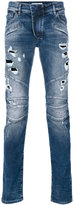 Pierre Balmain distressed biker jeans