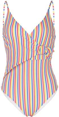 Onia Lila striped print swimsuit