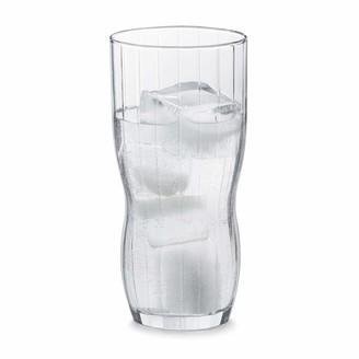 Libbey Stackable Set of 8 Paneled Glasses