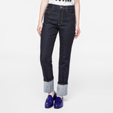Paul Smith Women's Indigo Straight-Leg Turn-Up Jeans