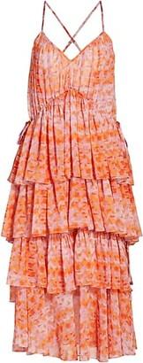 Cinq à Sept Rachel Tiered Ruffle Midi Dress