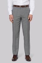 Ted Baker Gold Tailored Fit Neutral Birdseye Trouser