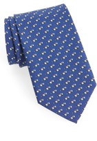 Salvatore Ferragamo Men's Race Car Print Silk Tie