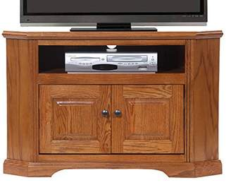 American Heartland Oak Corner TV Stand in